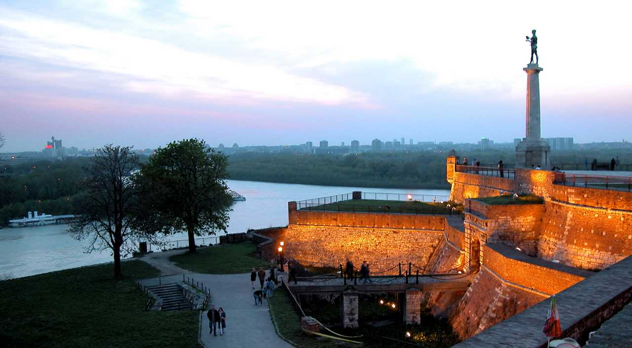 Belgrade Kalemegdan at dawn